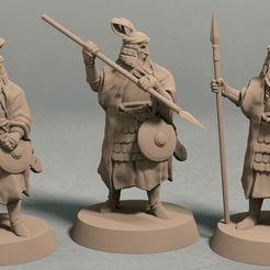 Empire of Jagrad Palace guard pack front.jpg Download STL file Empire of Jagrad soldiers palace guards (3 miniatures) – STL file • 3D printable object, LegendBuilds