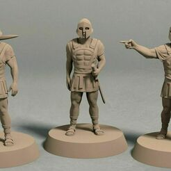 Realm of Eros City Guard pack front.jpg Download STL file Realm of Eros city guard pack (3 miniatures) – STL file • 3D printing design, LegendBuilds
