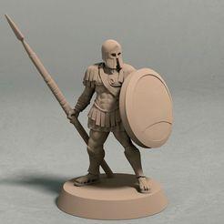 Realm of Eros soldier with spear pose 2 front.jpg Télécharger fichier STL Le royaume d'Eros, archer pose 2 miniatures - fichier STL • Objet pour impression 3D, LegendBuilds