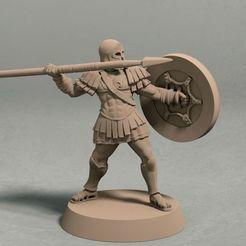 Realm of Eros soldier with spear pose 3 front.jpg Télécharger fichier STL Le royaume d'Eros pose 3 archer miniature - fichier STL • Objet imprimable en 3D, LegendBuilds