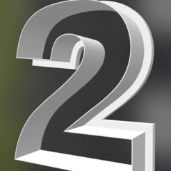 Descargar modelo 3D Numero 2 cortante para galletitas, infosf3d