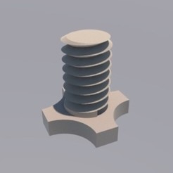 TORNILLO RENDER.jpg Download STL file tripod screw 2 size • 3D print object, infosf3d
