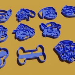 Descargar archivo 3D kit Paw patrol cookie cutter , gerardolparedes