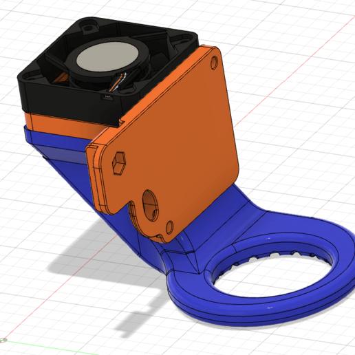 Artillery_X1_Genius_4010_Replace_Fan_Duct_1.png Télécharger fichier STL gratuit Fichiers d'imprimante 3D Artillery X1 Genius Extruder Fan Replacement 4010 Mount Duct • Modèle pour imprimante 3D, mcp32