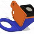 Artillery_X1_Genius_4010_Replace_Fan_Duct_2.png Télécharger fichier STL gratuit Fichiers d'imprimante 3D Artillery X1 Genius Extruder Fan Replacement 4010 Mount Duct • Modèle pour imprimante 3D, mcp32