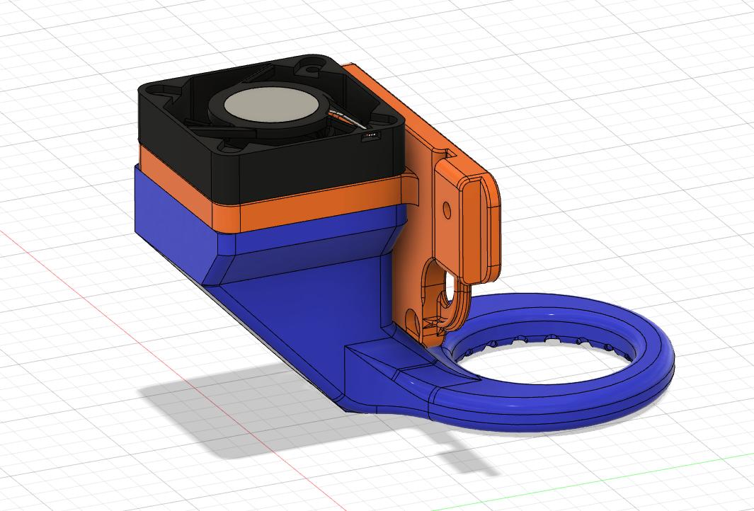 Artillery_X1_Genius_4010_Replace_Fan_Duct_0.png Télécharger fichier STL gratuit Fichiers d'imprimante 3D Artillery X1 Genius Extruder Fan Replacement 4010 Mount Duct • Modèle pour imprimante 3D, mcp32