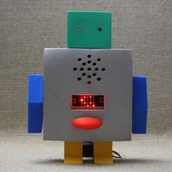 IMG_1748.JPG Download free STL file Microbit Talking Robot • 3D printer model, supernoblehuang