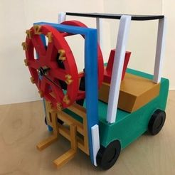 Forklift Picture (Right-Front View).jpg Download STL file Forklift Clock • 3D printing object, supernoblehuang