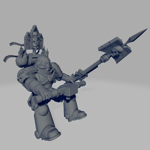 Dark Crusader Angry Priest of Death for Grav Bike - Long Weapon 01~2.jpg Download free STL file Dark Crusader Angry Priests of Death on Ride Out Bike • 3D printing object, GrimmTheMaker