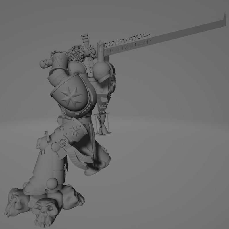 Dark Crusader Executioner 03.png Download free STL file Dark Crusader Executioner • 3D printable object, GrimmTheMaker