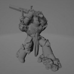 Dark Crusader Executioner 01.png Download free STL file Dark Crusader Executioner • 3D printable object, GrimmTheMaker