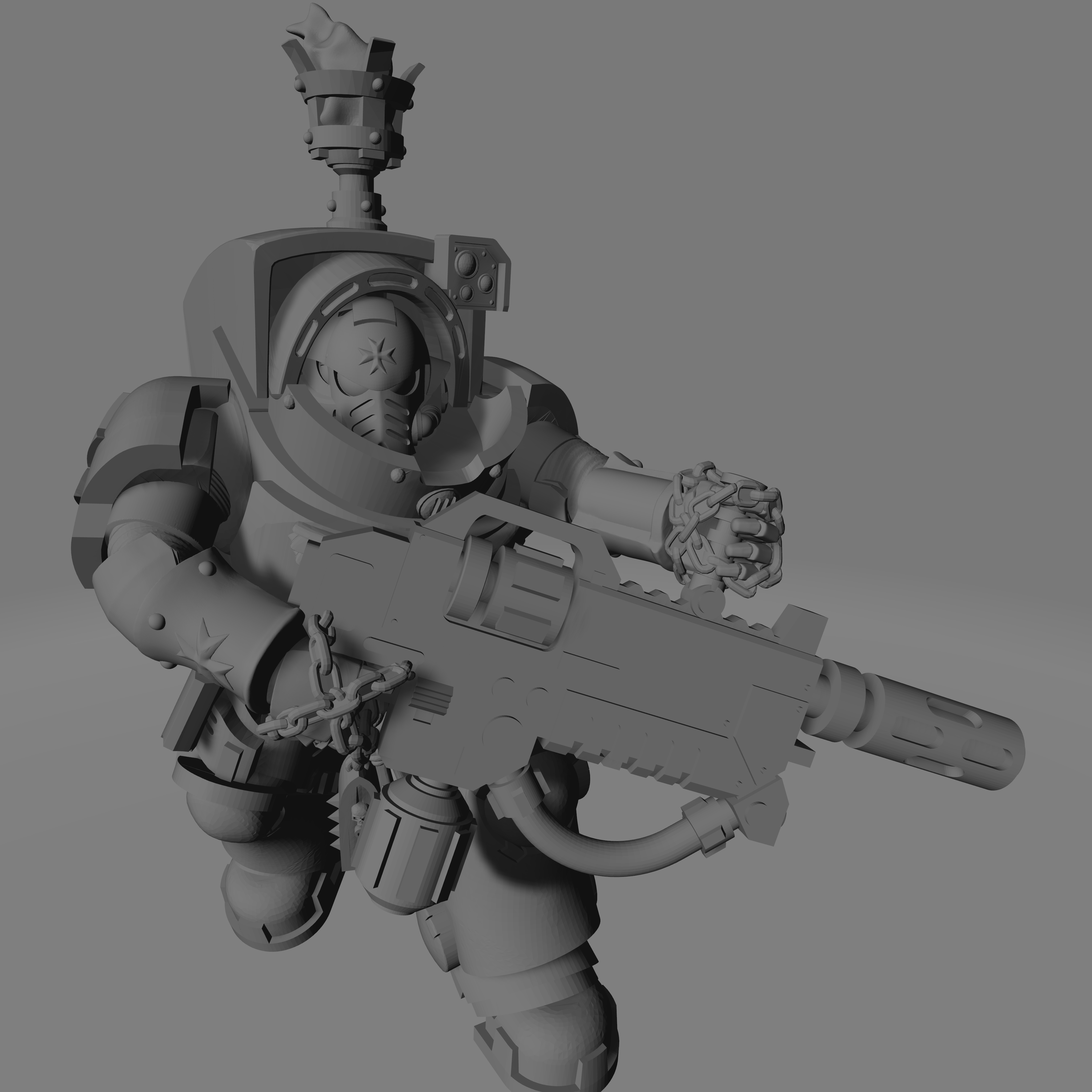 Dark Crusader Heavy Infantry Liquidators - 02.jpg Download free STL file Dark Crusader Heavy Infantry Liquidator Squad • 3D printing design, GrimmTheMaker