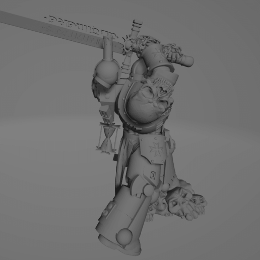Dark Crusader Executioner 05.png Download free STL file Dark Crusader Executioner • 3D printable object, GrimmTheMaker