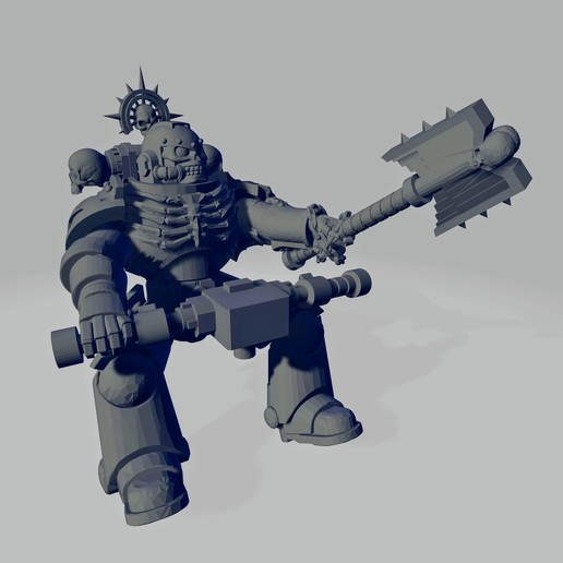Dark Crusader Angry Priest of Death for Grav Bike - Short Weapon 01~2.jpg Download free STL file Dark Crusader Angry Priests of Death on Ride Out Bike • 3D printing object, GrimmTheMaker