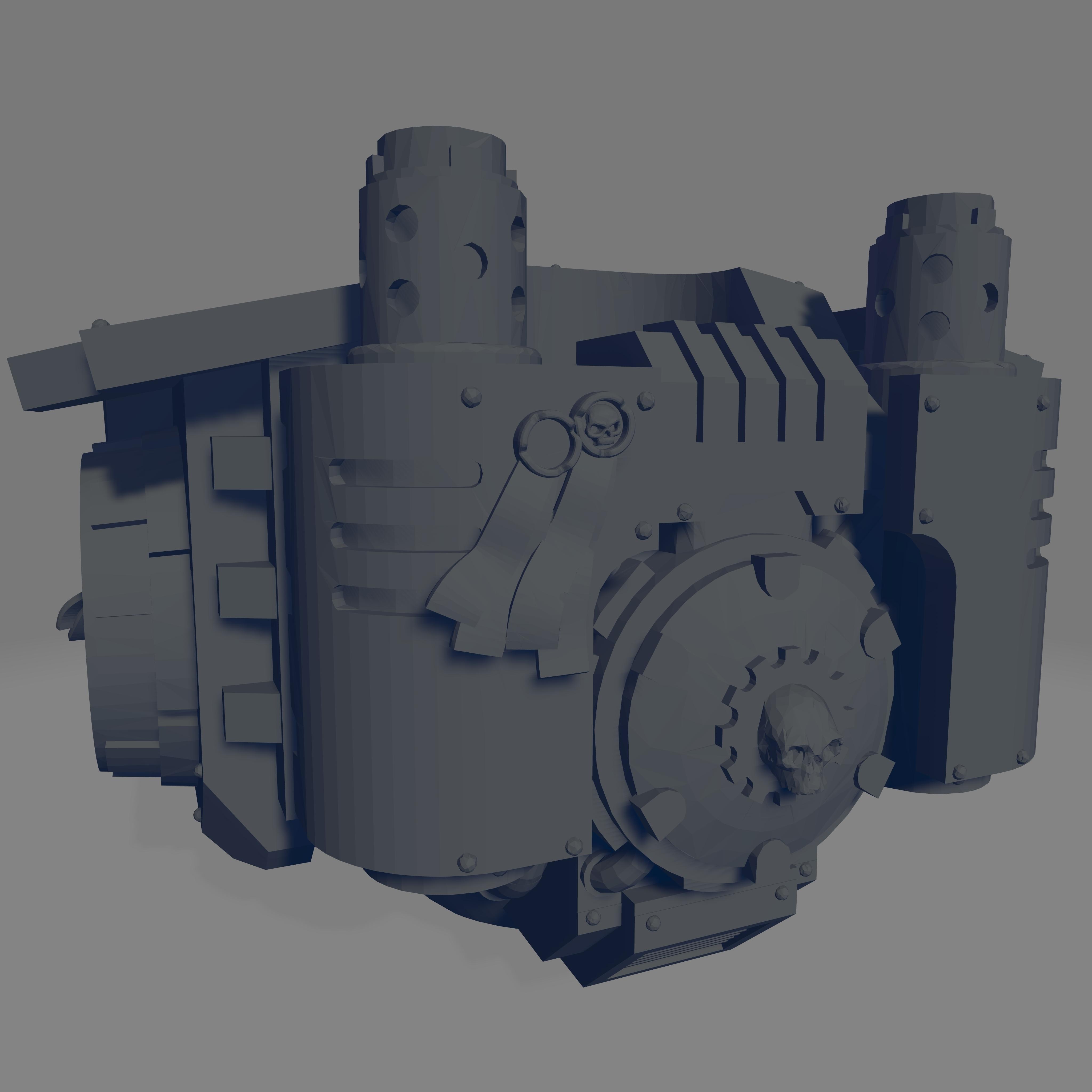 Dark Crusader Redmption Mausoleum - Torso 2.jpg Download free STL file Dark Crusader Redemption Mausoleum • 3D printer design, GrimmTheMaker