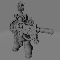 Dark Crusader Heavy Infantry Liquidators - 01 - Sword Brother 1.jpg Download free STL file Dark Crusader Heavy Infantry Liquidator Squad • 3D printing design, GrimmTheMaker