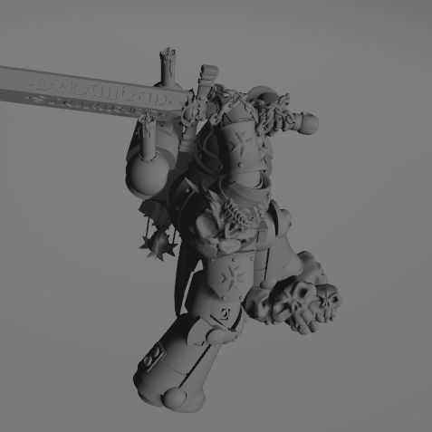 Dark Crusader Executioner 09.png Download free STL file Dark Crusader Executioner • 3D printable object, GrimmTheMaker