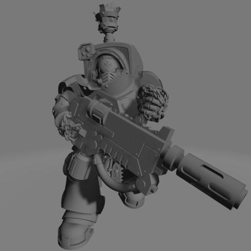 Dark Crusader Heavy Infantry Liquidators - 03.jpg Download free STL file Dark Crusader Heavy Infantry Liquidator Squad • 3D printing design, GrimmTheMaker