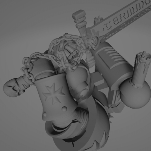 Dark Crusader Executioner 11.png Download free STL file Dark Crusader Executioner • 3D printable object, GrimmTheMaker