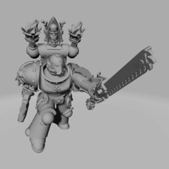 Dark Crusader - Attack Infantry 01 - Sword Brother 01 - 1.jpg Download free STL file Dark Crusader Assault Infantry Squad • 3D print design, GrimmTheMaker