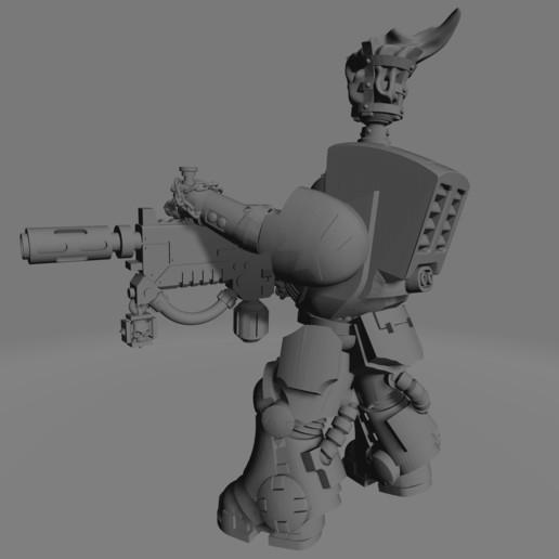 Dark Crusader Heavy Infantry Liquidators - 01 - Sword Brother 2.jpg Download free STL file Dark Crusader Heavy Infantry Liquidator Squad • 3D printing design, GrimmTheMaker