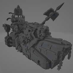 Dark Crusader Angry Priest of Death on Grav Bike 1.png Download free STL file Dark Crusader Angry Priest of Death on Grav Bike • 3D print template, GrimmTheMaker