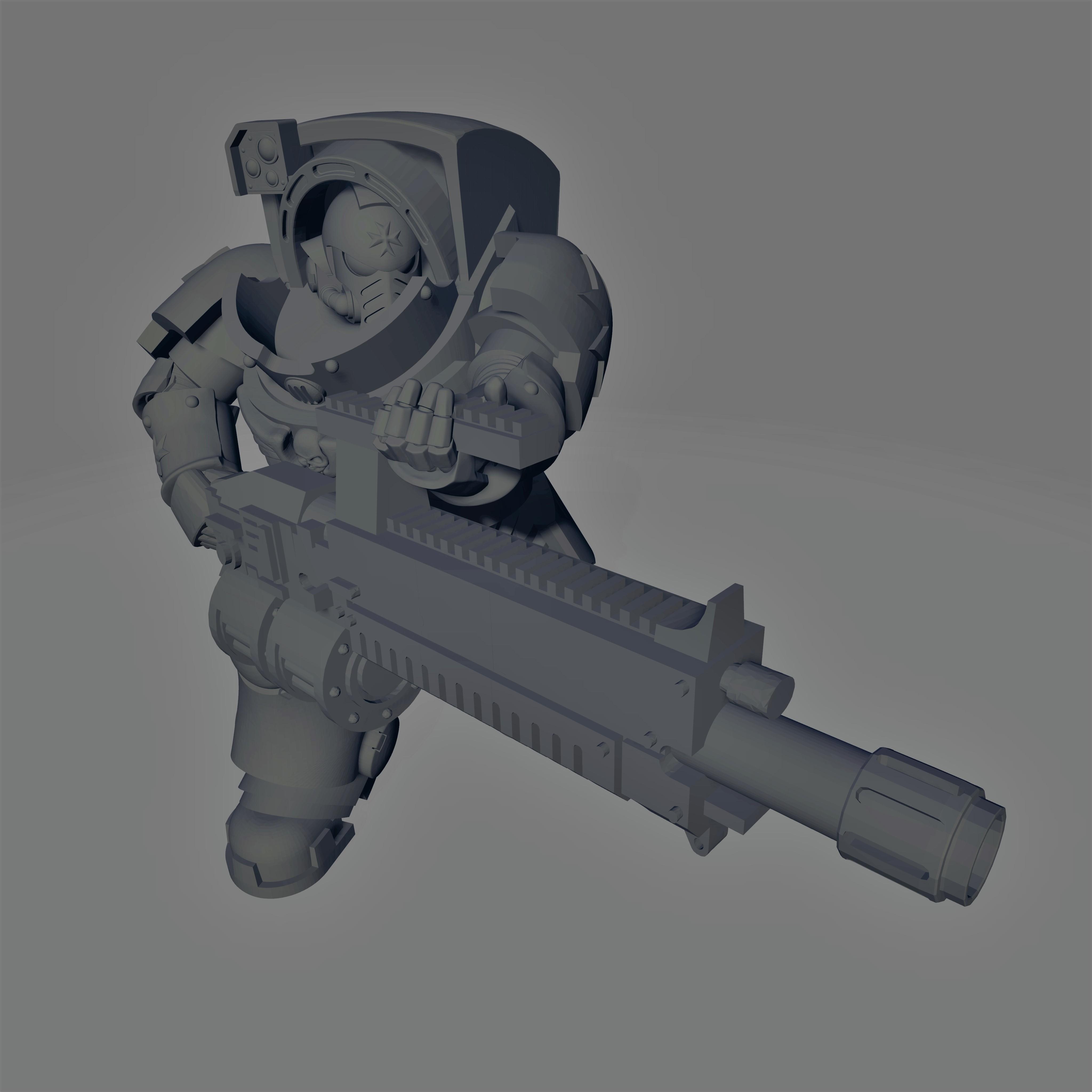 Dark Crusader - Heavy Infantry - Hellstorm Heavy Bolter.jpg Download free STL file Dark Crusader Heavy Infantry Squad • 3D printer model, GrimmTheMaker