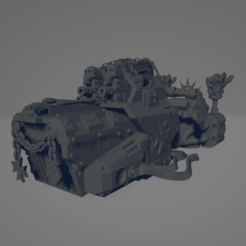 Dark Crusader Grav Bike - Angry Priest of Death 1.png Download free STL file Dark Crusader Grav Bike - Angry Priest of Death • Template to 3D print, GrimmTheMaker