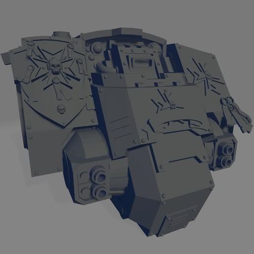 Dark Crusader Redmption Mausoleum - Torso.jpg Download free STL file Dark Crusader Redemption Mausoleum • 3D printer design, GrimmTheMaker