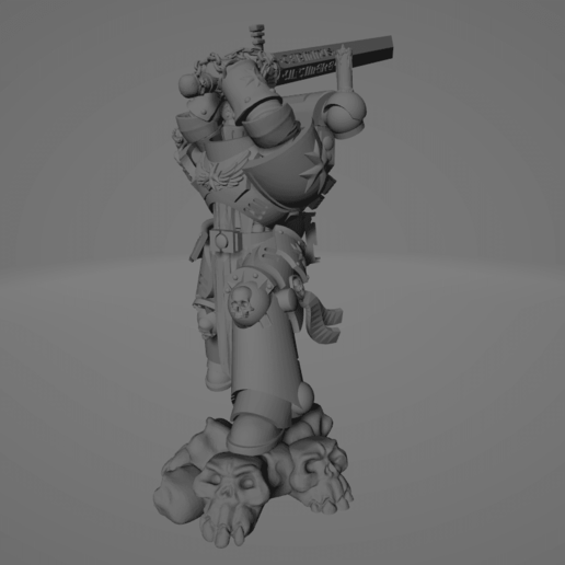 Dark Crusader Executioner 02.png Download free STL file Dark Crusader Executioner • 3D printable object, GrimmTheMaker