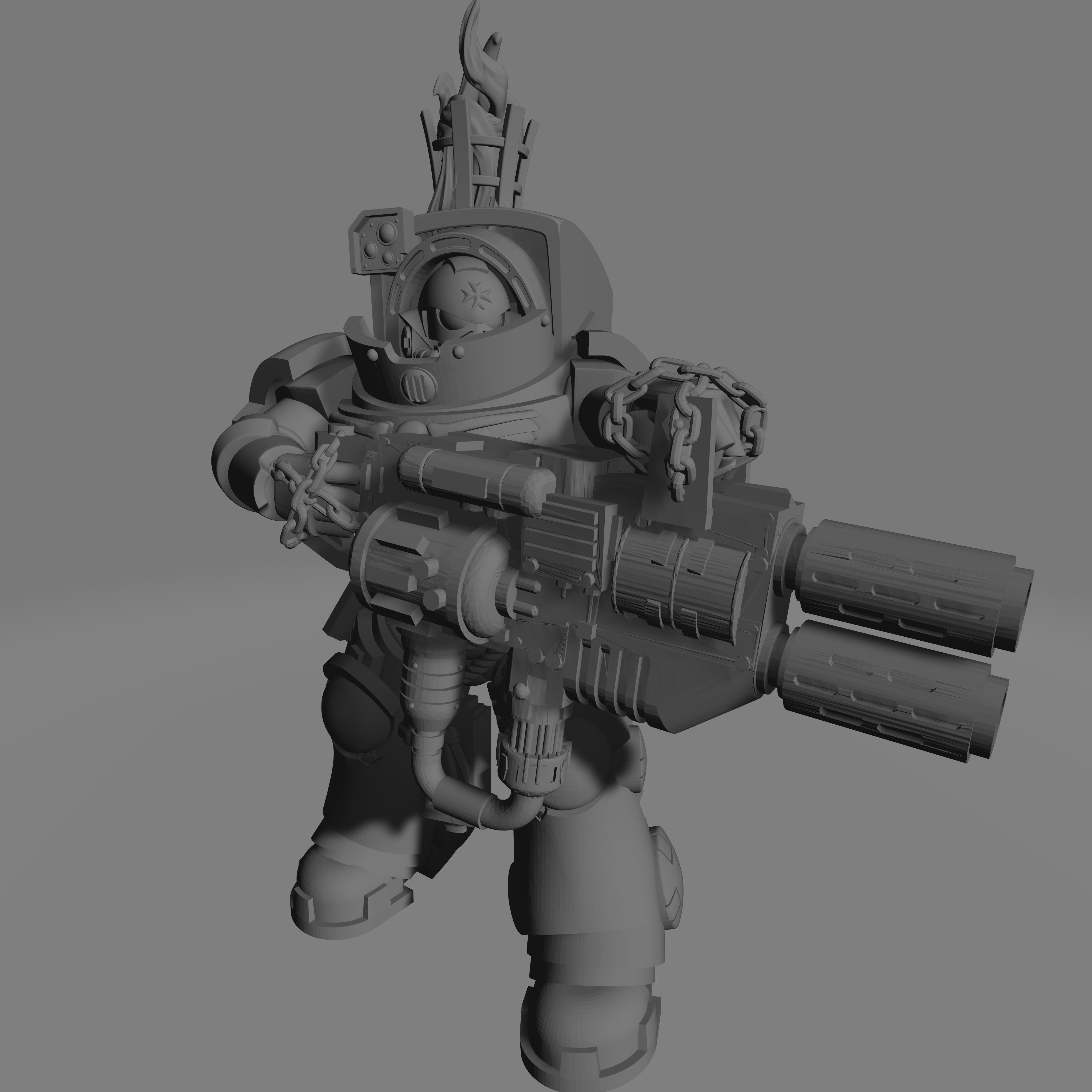Dark Crusader Heavy Infantry Liquidators - 04 - Heavy 1.jpg Download free STL file Dark Crusader Heavy Infantry Liquidator Squad • 3D printing design, GrimmTheMaker