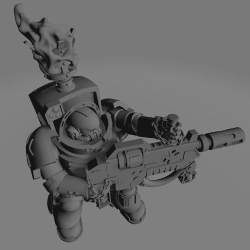 Dark Crusader Heavy Infantry Liquidators - 01 - Sword Brother 3.jpg Download free STL file Dark Crusader Heavy Infantry Liquidator Squad • 3D printing design, GrimmTheMaker