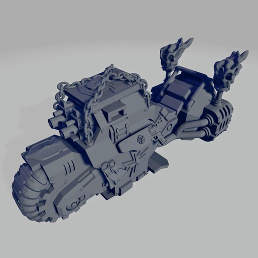 Dark Crusader Ride Out Bike 02~2.jpg Download free STL file Dark Crusader Angry Priests of Death on Ride Out Bike • 3D printing object, GrimmTheMaker