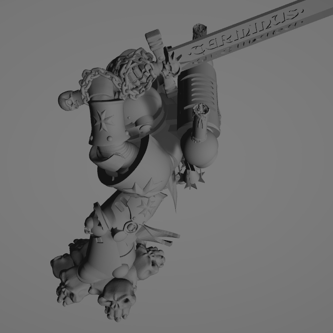 Dark Crusader Executioner 10.png Download free STL file Dark Crusader Executioner • 3D printable object, GrimmTheMaker