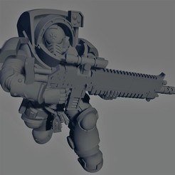 Dark Crusader - Heavy Infantry - Executor Bolt Rifle - 03.jpg Download free STL file Dark Crusader Heavy Infantry Squad • 3D printer model, GrimmTheMaker
