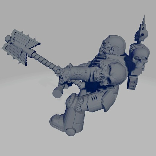 Dark Crusader Angry Priest of Death for Grav Bike - Short Weapon 02~2.jpg Download free STL file Dark Crusader Angry Priests of Death on Ride Out Bike • 3D printing object, GrimmTheMaker