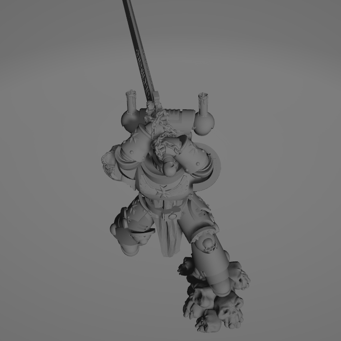 Dark Crusader Executioner 08.png Download free STL file Dark Crusader Executioner • 3D printable object, GrimmTheMaker
