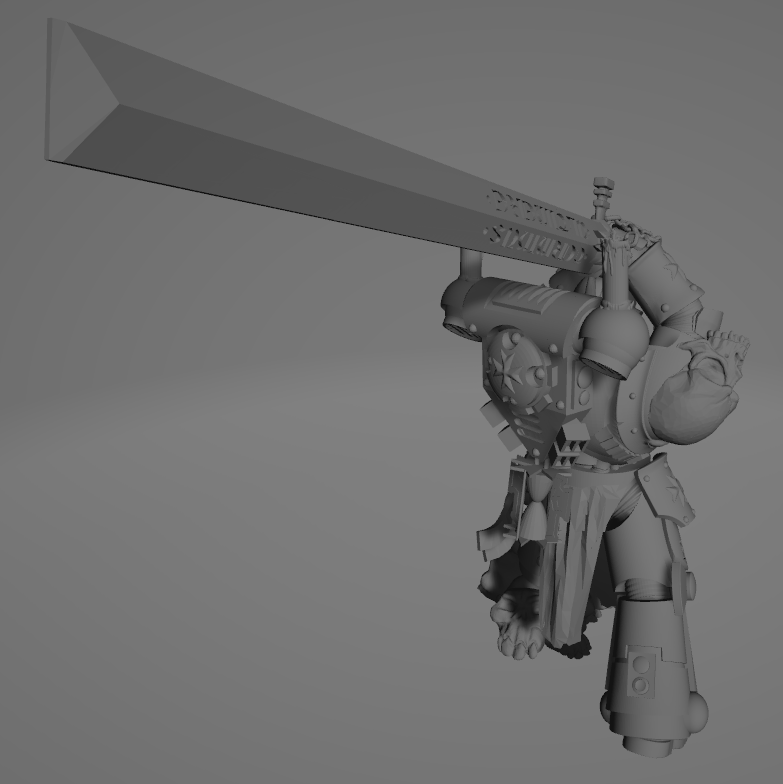 Dark Crusader Executioner 04.png Download free STL file Dark Crusader Executioner • 3D printable object, GrimmTheMaker