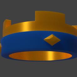 Descargar diseños 3D Corona Rey Clash Royale, LuisNicolas5