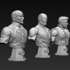 1.jpg Download OBJ file Avengers Busts • 3D printable design, javiherbou87