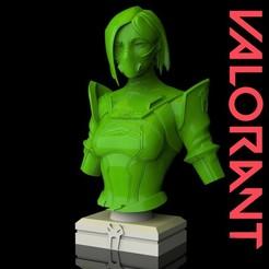 photo_2020-06-04_04-07-04.jpg Download OBJ file Viper from Valorant Bust • 3D printable model, javiherbou87