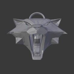 witcher_medallion_cat_01.jpg Download free STL file Witcher Medallion Cat • 3D printing design, lacza