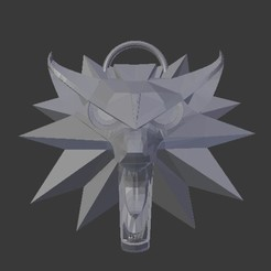 witcher_medallion_wolf_01.jpg Download free STL file Witcher Medallion Wolf • 3D print object, lacza