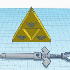 Download free 3D printing files sword key ring, muozam