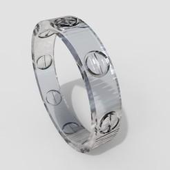 untitled.12.jpg Download STL file Ring Cartier • 3D printer design, allaG