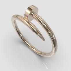 untitled.42.jpg Download STL file Ring Nail • 3D print model, allaG