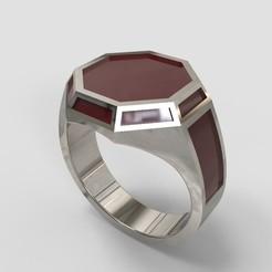 34.jpg Télécharger fichier STL Ring Octagon Chevaliere • Modèle à imprimer en 3D, allaG