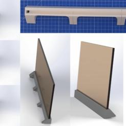 Download free 3D printing designs Stand for magnet board, NerdCorner