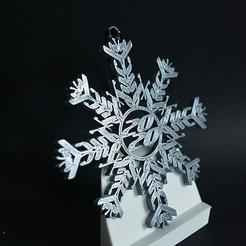 MetSilver_01.jpg Download STL file Fuck 2020 Snowflake Ornament Quiet Version • 3D print design, Synnthetik