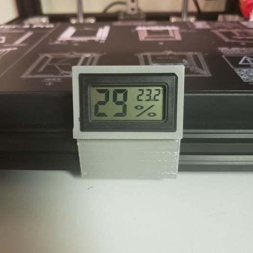 20200529_185424.jpg Télécharger fichier STL gratuit Clip de la jauge de température/humidité • Design à imprimer en 3D, iamsanman